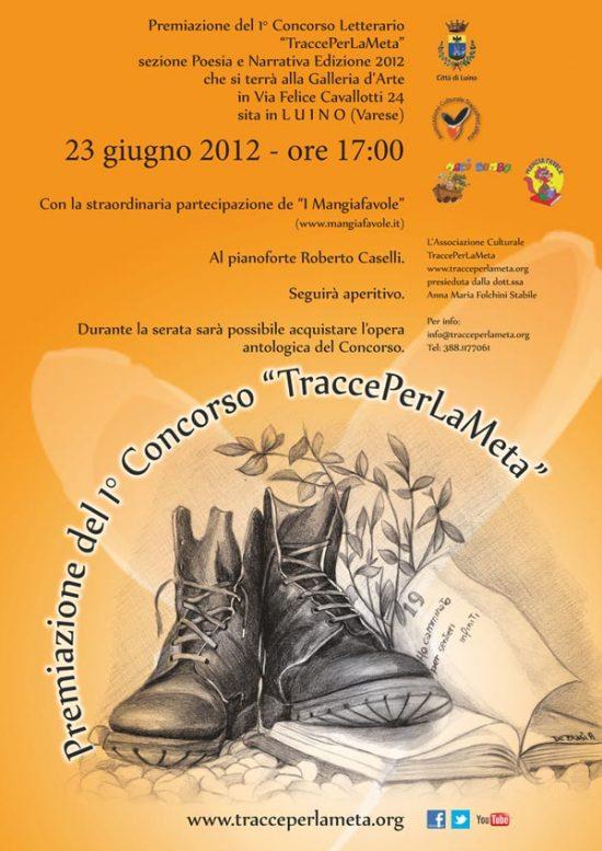 Premiazione 1° Concorso Letterario Nazionale TraccePerLaMeta – 2012