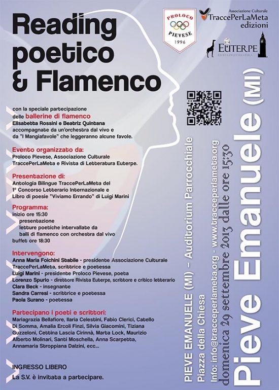 Domenica 29.9.2013 – Reading poetico & Flamenco