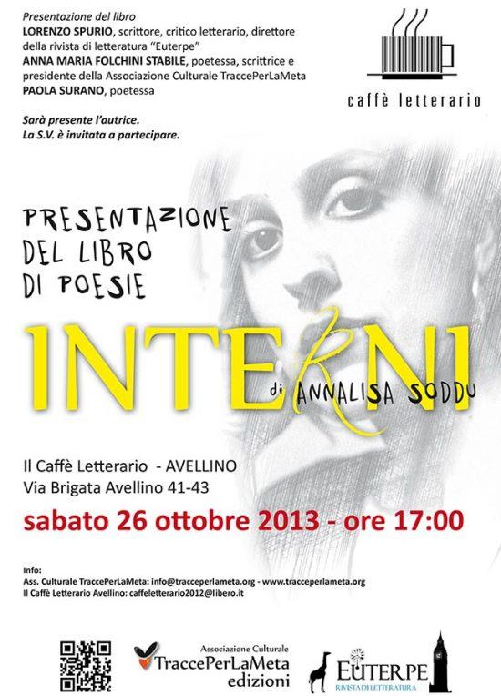 26 ottobre 2013 – Presentazione libro: Interni di Annalisa Soddu
