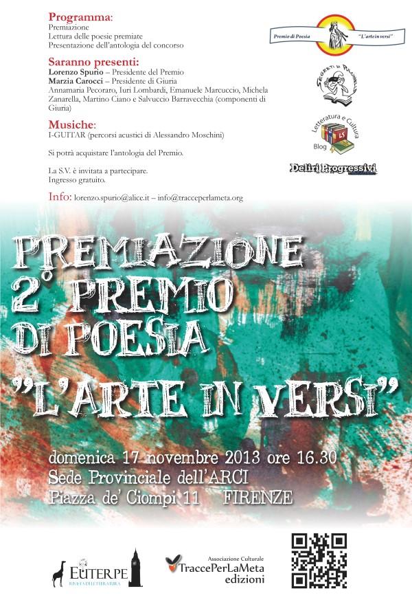 """17.11.2013 – Premiazione 2° Premio di Poesia """"L'arte in versi"""""""