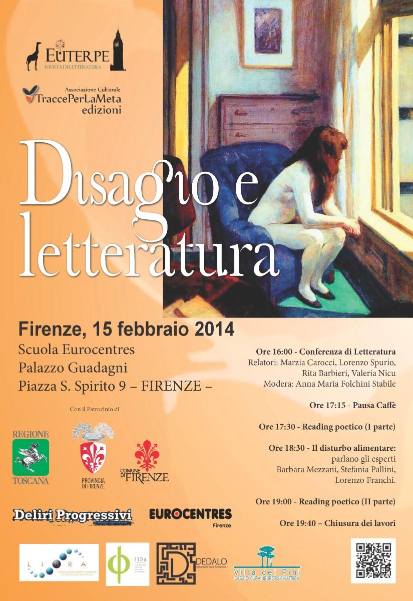 """15.2.2014 – """"Disagio e letteratura"""" – Conferenza e Reading Poetico"""