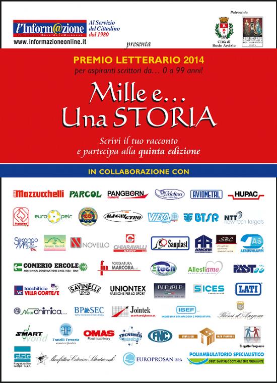 """Scadenza 30.6.2014 – Premio Letterario """"Mille e… Una STORIA 2014"""""""