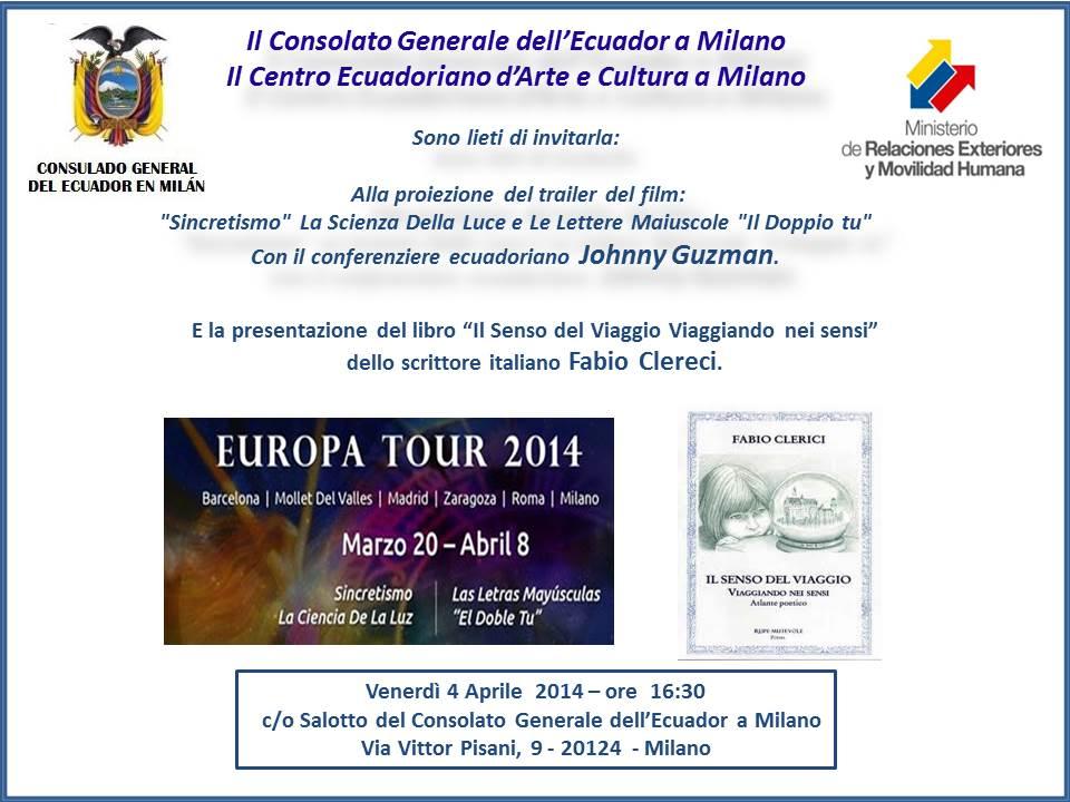 """4.4.2014 – Lettura Teatrale: """"Il Senso del Viaggio"""" di Fabio Clerici"""