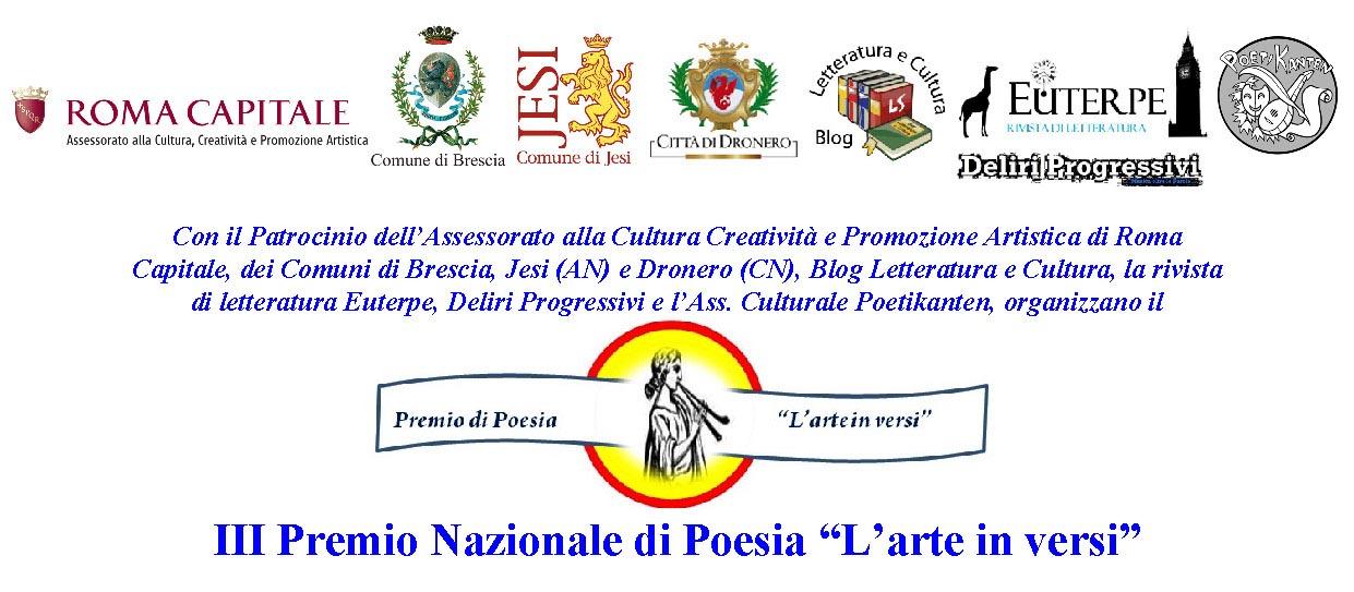 """Scadenza 15.5.2014 – III Premio Nazionale di Poesia """"L'arte in versi"""""""