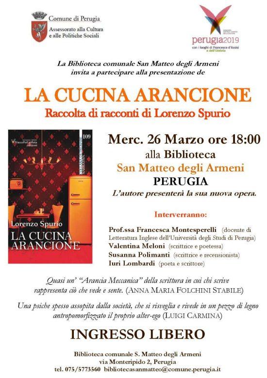 26.3.2014 – Spurio presenta la sua nuova raccolta di racconti a Perugia