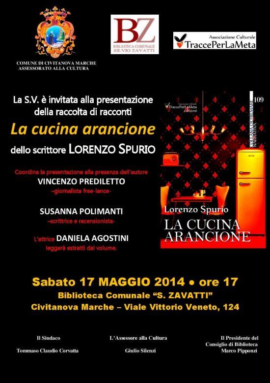 """17.5.2014 – """"La cucina arancione"""" di Lorenzo Spurio a Civitanova Marche"""