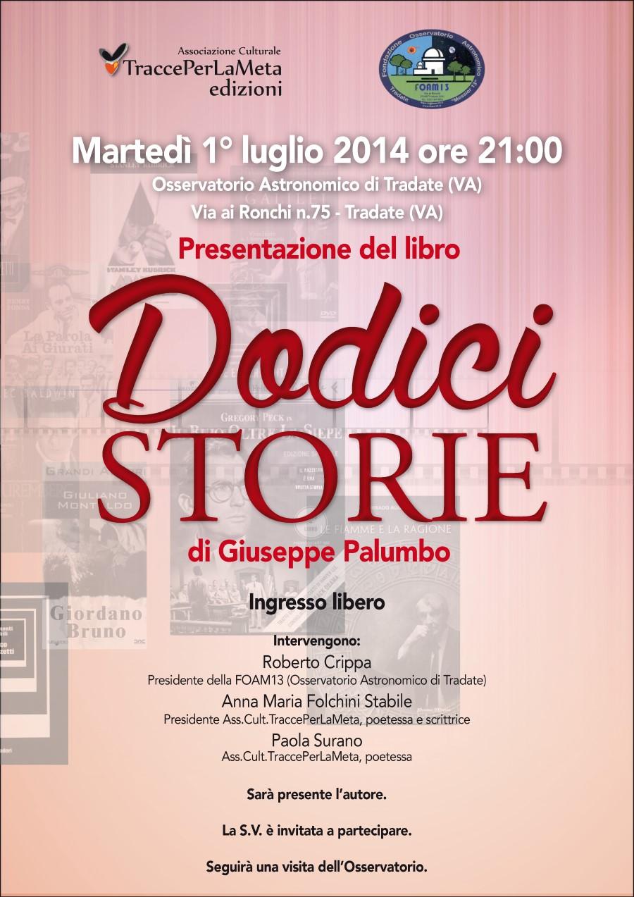 """1.7.2014 – Presentazione del libro """"Dodici Storie"""" di Giuseppe Palumbo"""