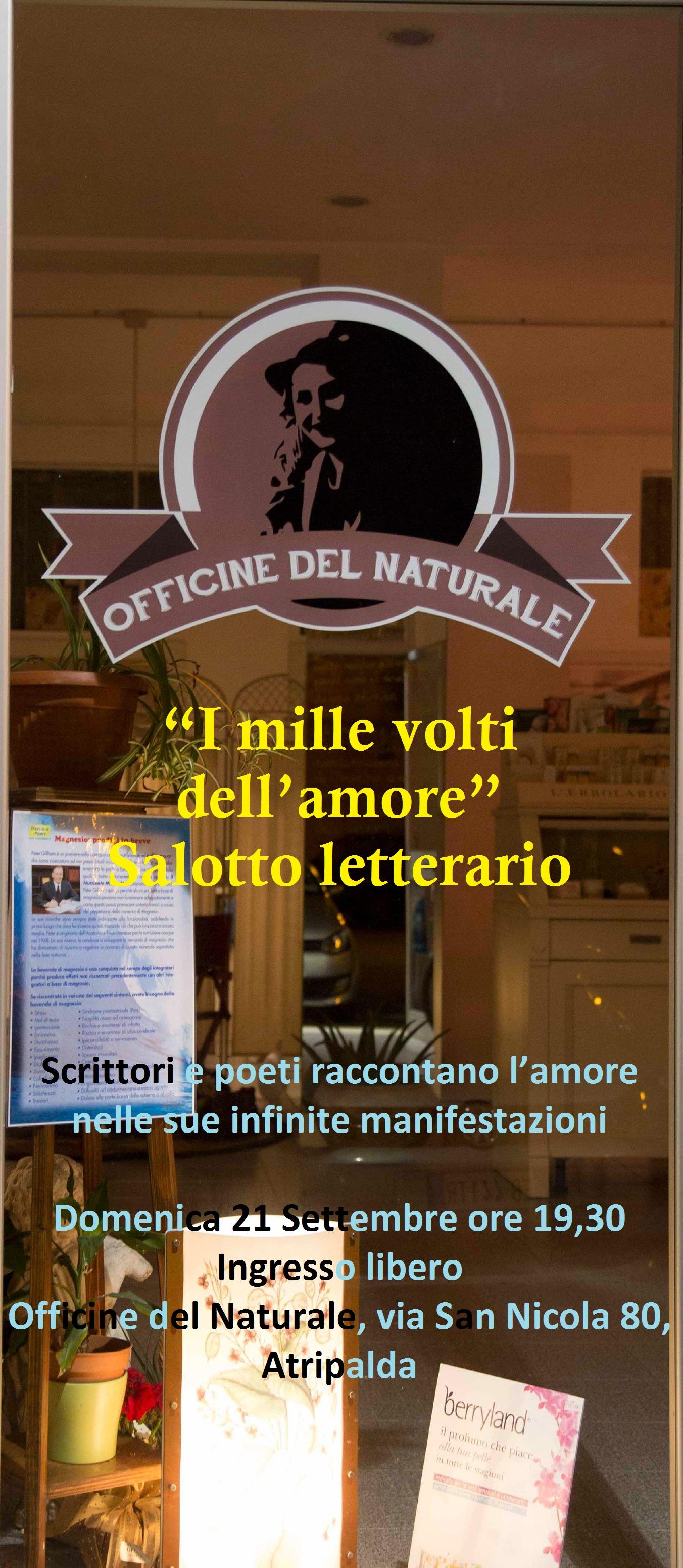 """21.9.2014 – """"I mille volti dell'amore"""" Salotto Letterario ad Atripalda"""
