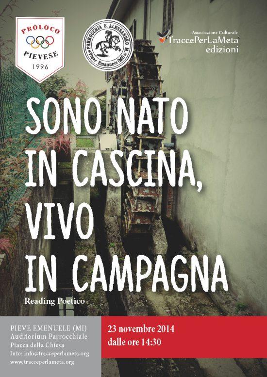 """23 novembre 2014 – presentazione libro """"Sono nato in cascina, vivo in campagna"""" di Luigi Marini"""