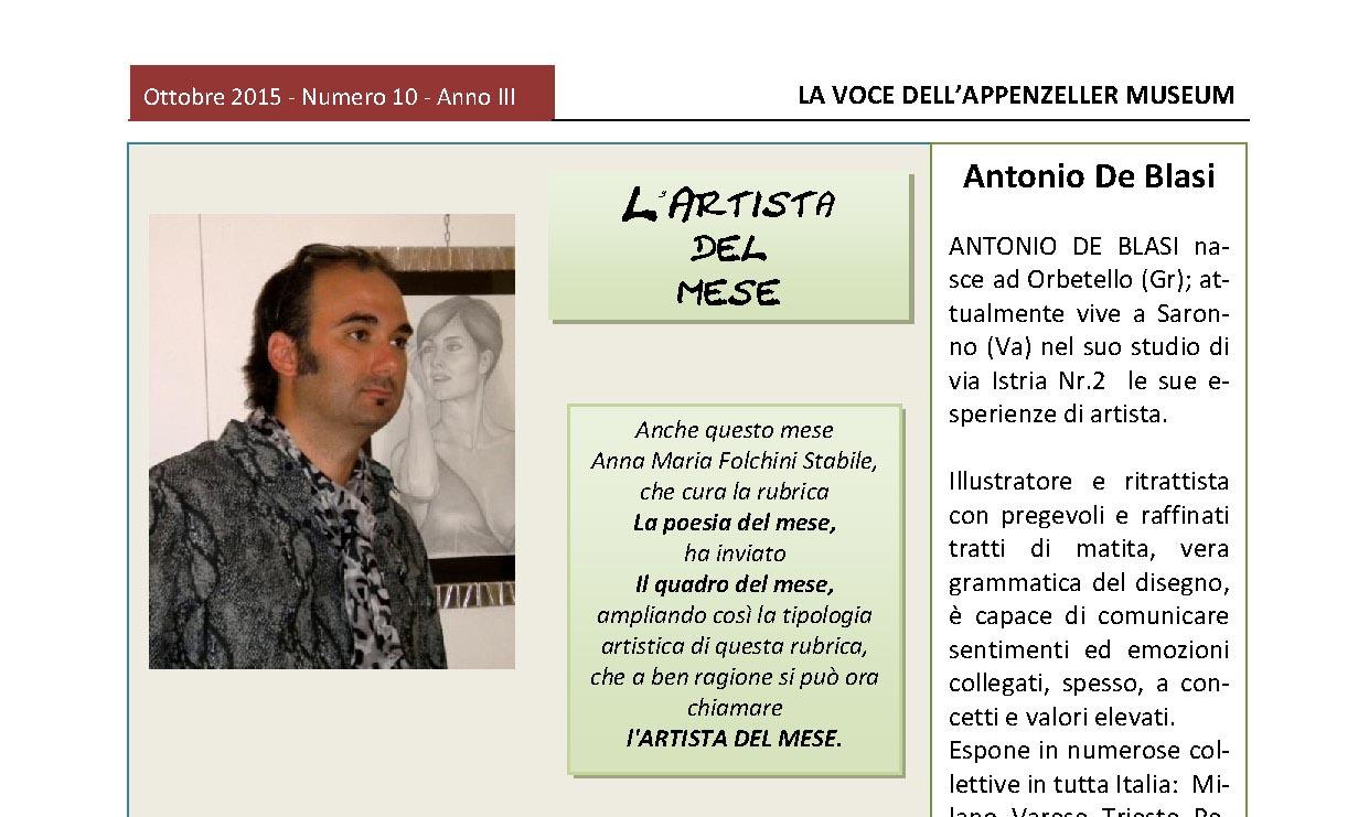 Ottobre 2015, n.10, La Voce dell'Appenzeller Museum – Antonio De Blasi, Il quadro del mese