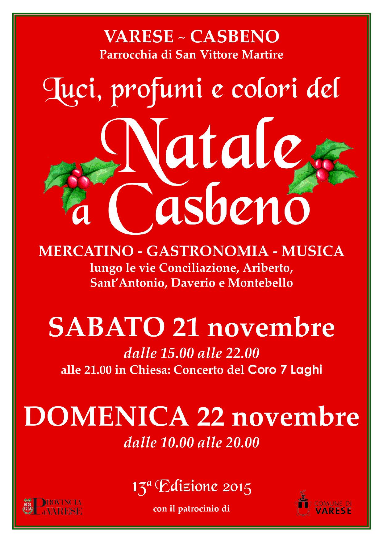 21-22 novembre 2015 – Luci, profumi e colori del Natale a Casbeno