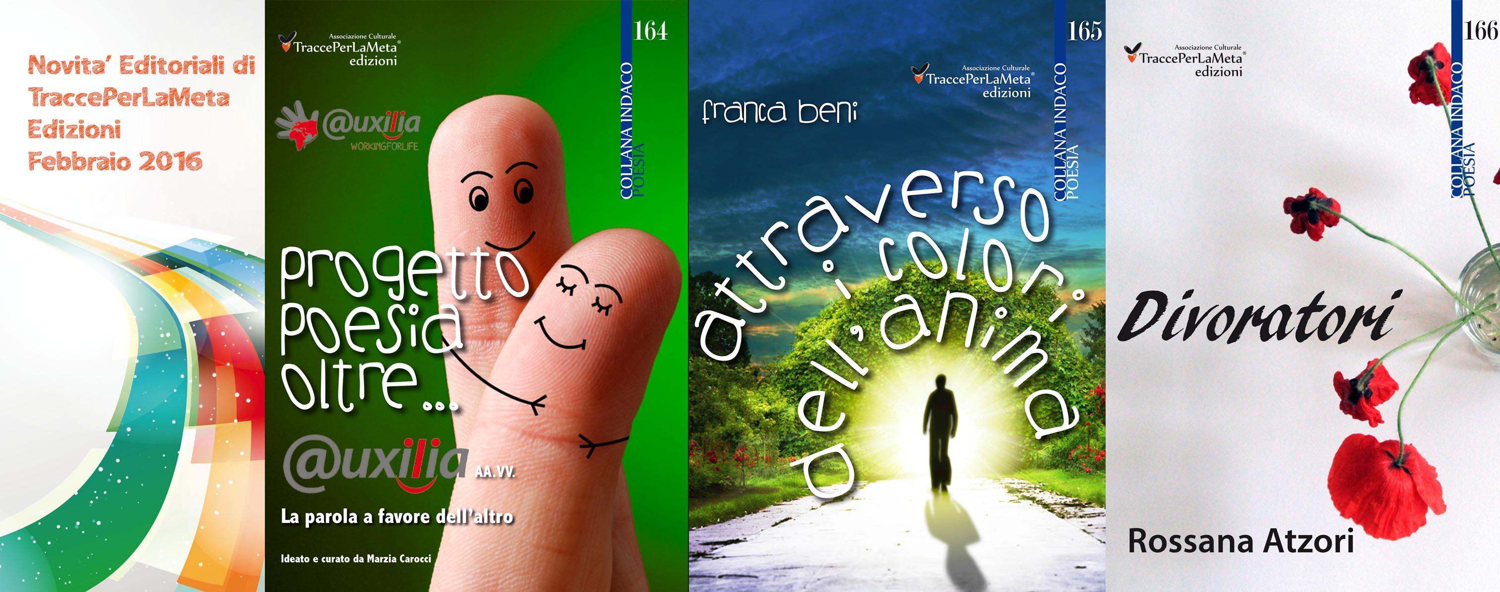 Libri in uscita a febbraio 2016 di TraccePerLaMeta Edizioni