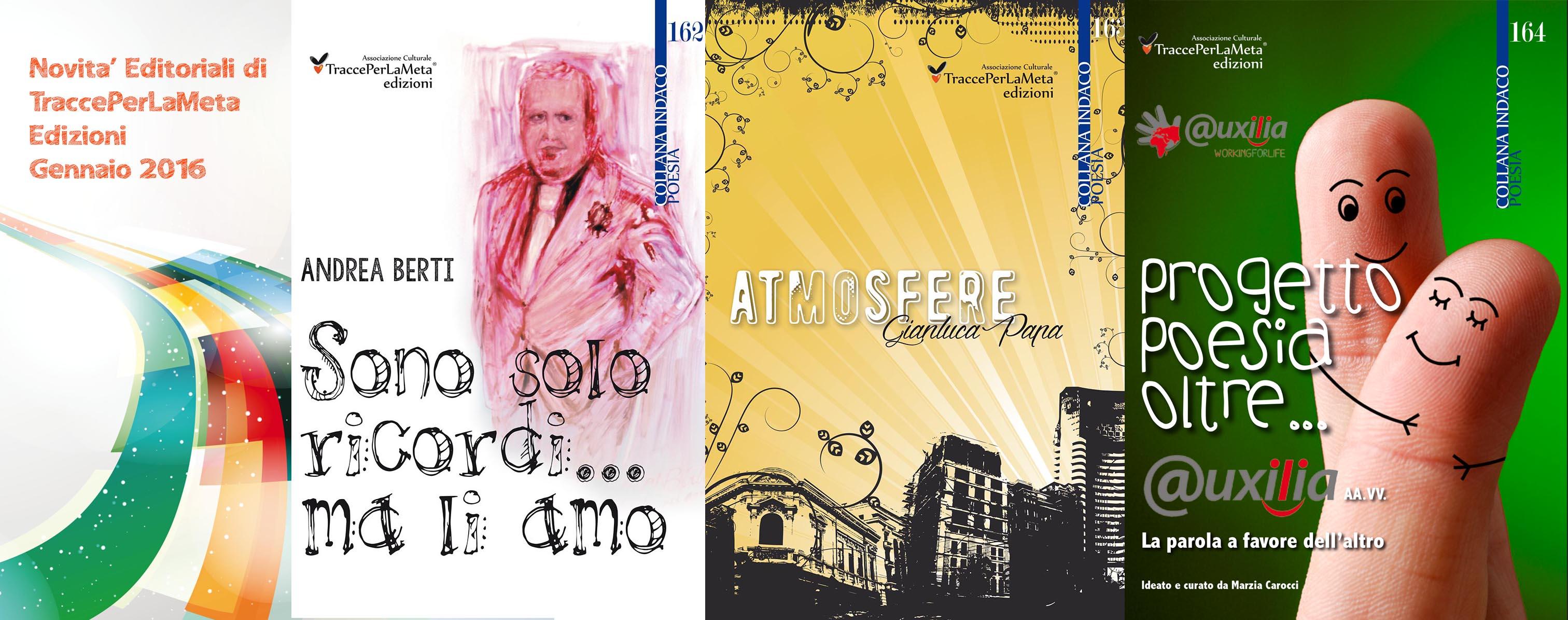 Libri in uscita a gennaio 2016 di TraccePerLaMeta Edizioni