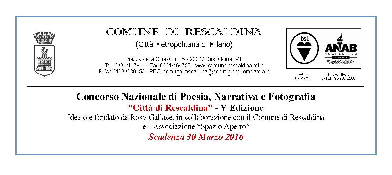 Scadenza 30.3.2016 – V Edizione Concorso Nazionale di Poesia, Narrativa e Fotografia