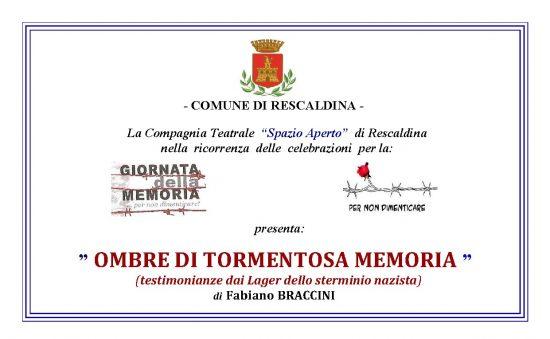 """30.1.2016 – """"Ombre di Tormentosa Memoria"""""""