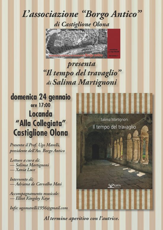 """24.1.2016 – Presentazione del libro """"Il tempo del travaglio"""" di Salima Martignoni"""