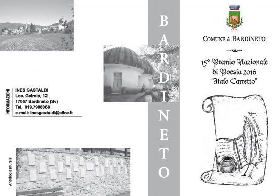 """Scadenza 10.5.2016 – 15° Premio Nazionale di Poesia 2016 """"Italo Carretto"""""""