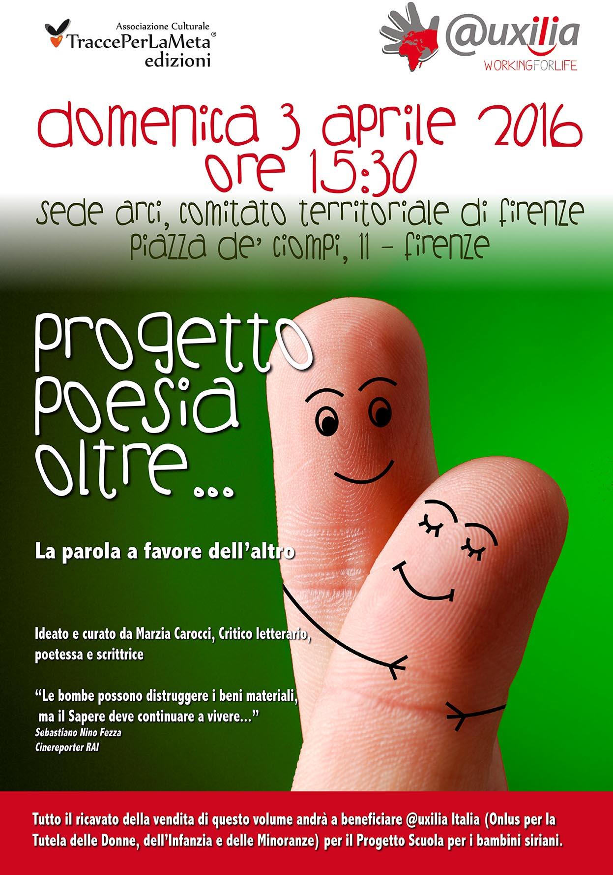3.4.2016 – Presentazione Progetto Poesia Oltre in favore di @uxilia Italia per una scuola per bambini siriani