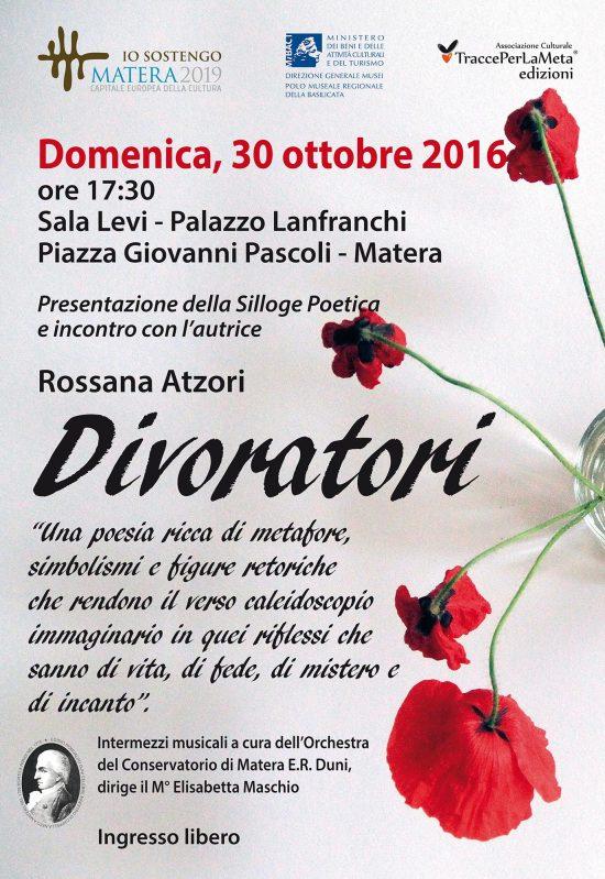 """30.10.2016 Presentazione libro """"Divoratori"""" di Rossana Atzori"""