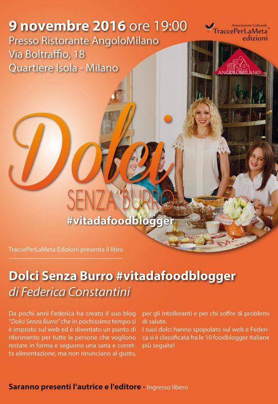 """9.11.2016 – """"Dolci Senza Burro"""" presentazione libro di Federica Constantini"""