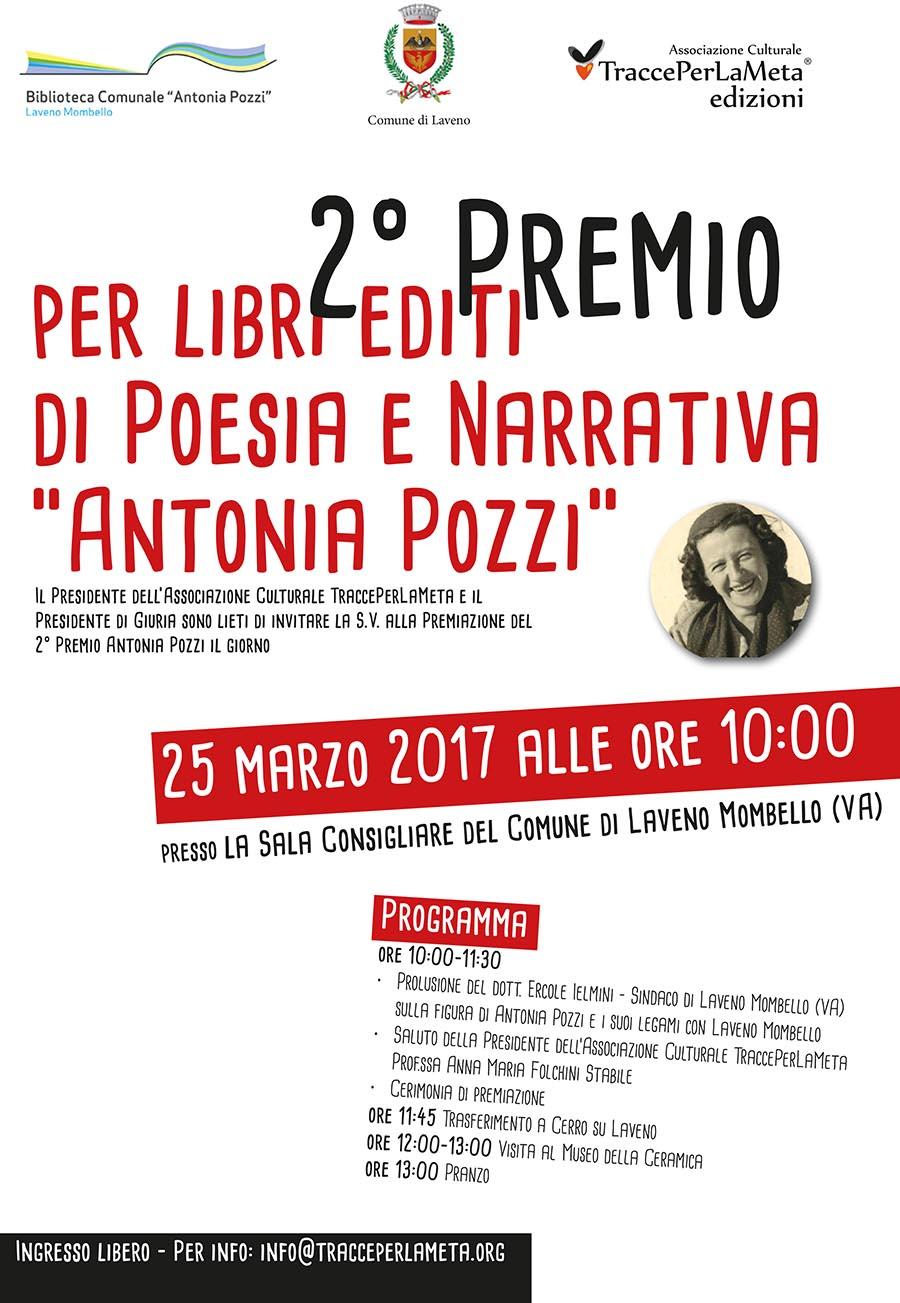 """25 marzo 2017 – Premiazione 2° Premio per Libri Editi di Poesia e Narrativa """"Antonia Pozzi"""""""