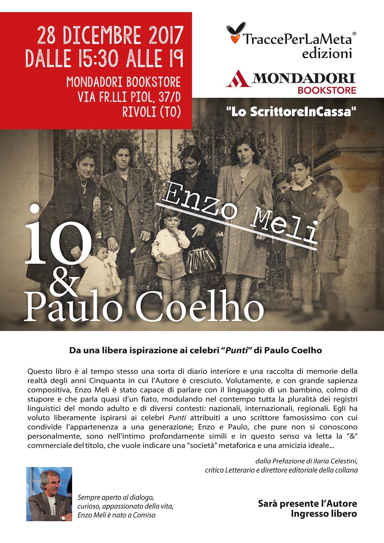 28.12.2017 – Lo ScrittoreInCassa – Enzo Meli alla Mondadori BookStore di Rivoli (TO)
