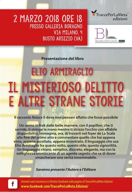 """2.3.2018 – Presentazione libro """"Il misterioso delitto e altre storie"""" – LIVE FACEBOOK"""