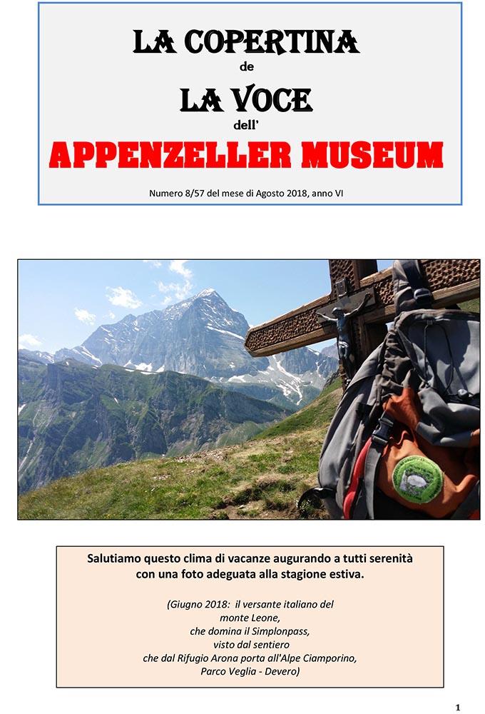 Bruno Pompilio, La Voce dell'Artista – Agosto 2018, n.08, La Voce dell'Appenzeller Museum