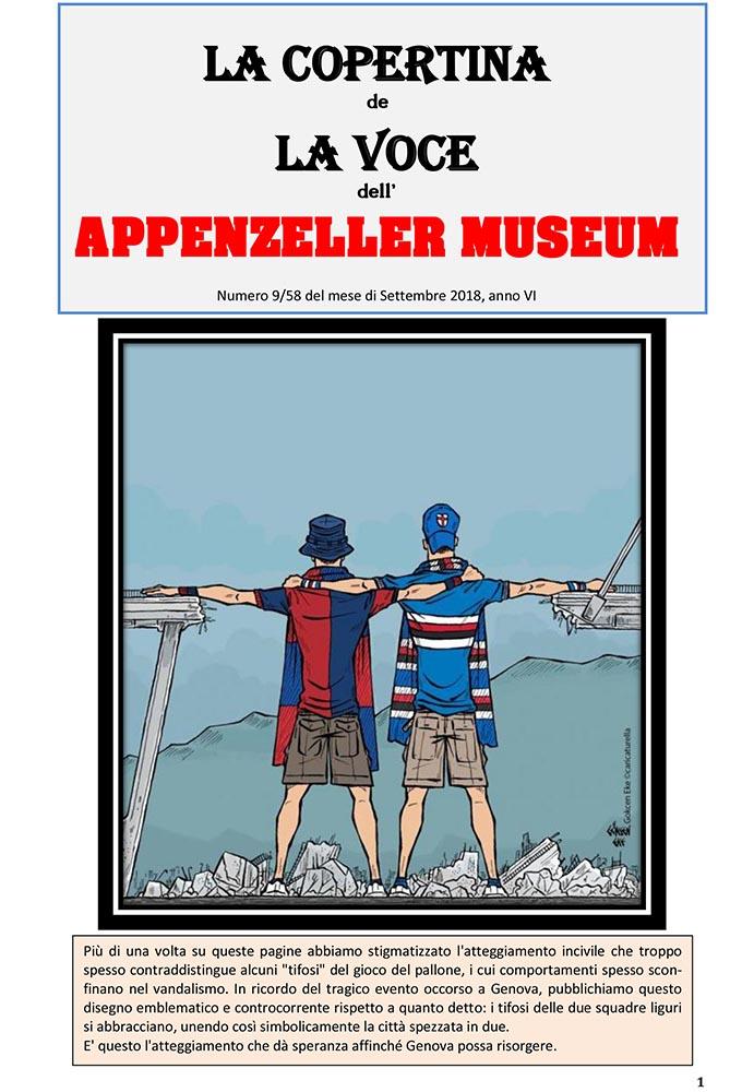 La Voce dell'Artista – Settembre 2018, n.09, La Voce dell'Appenzeller Museum