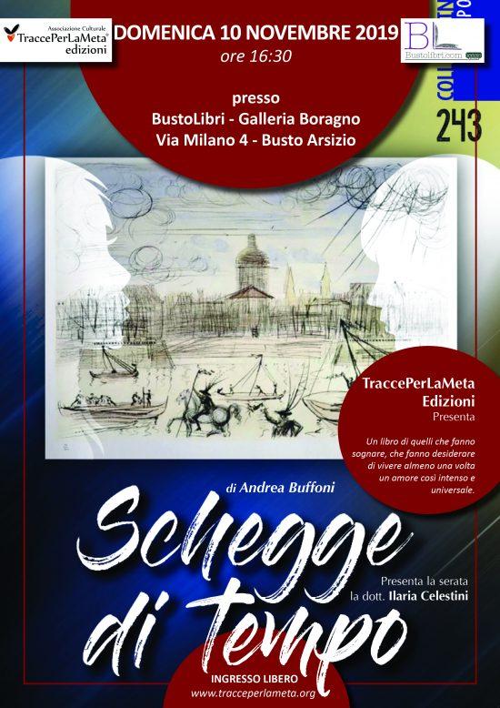 """10.11.2019 – Presentazione del libro """"Schegge di tempo"""" di Andrea Buffoni"""