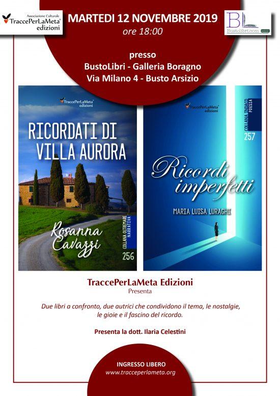 12.11.2019 – Ecco il video della presentazione dei libri di Rosanna Cavazzi e di Maria Luisa Luraghi