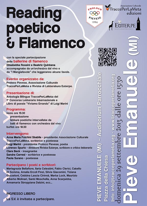 Domenica 29.9.2013 – Reading poetico & Flamenco