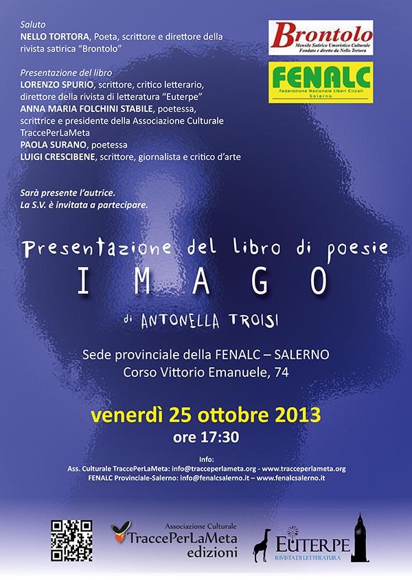 25 ottobre 2013 – Presentazione libro: Imago di Antonella Troisi