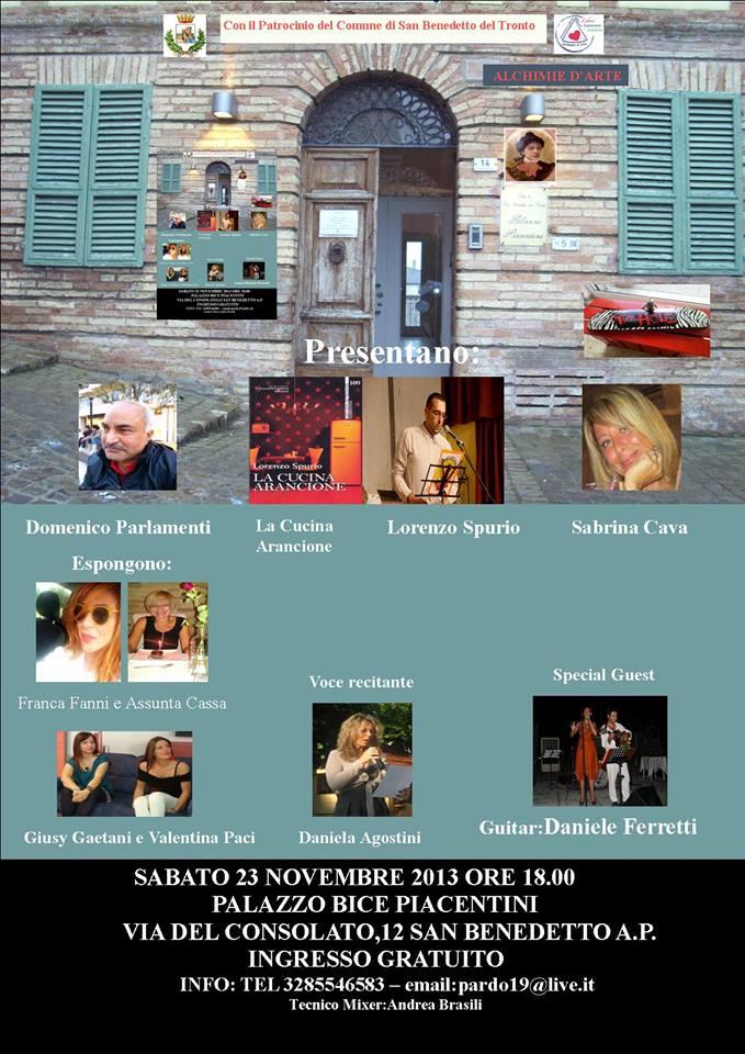 23.11.2013 – Presentazione libro: La cucina arancione di Lorenzo Spurio