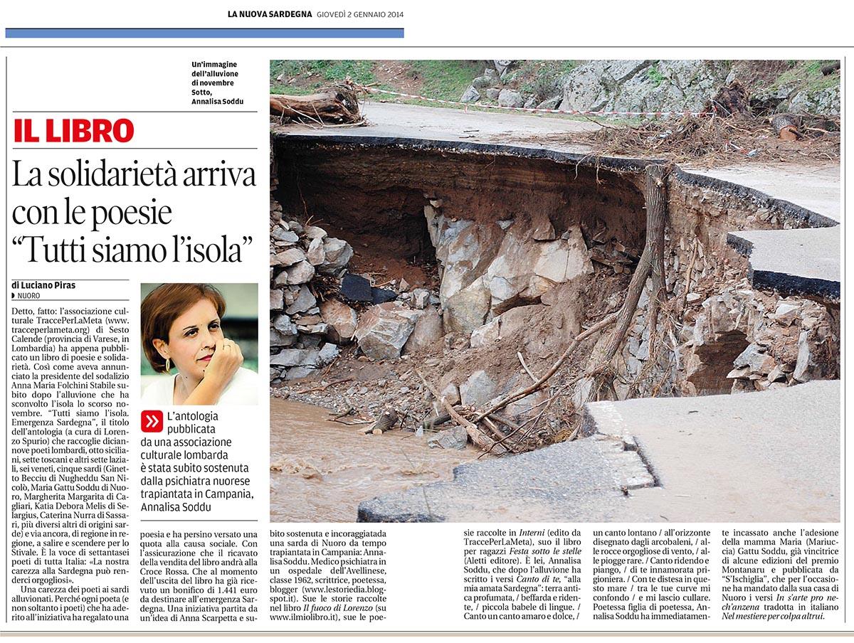 2 gennaio 2014 – Tutti siamo l'isola – La Nuova Sardegna, articolo di Luciano Piras