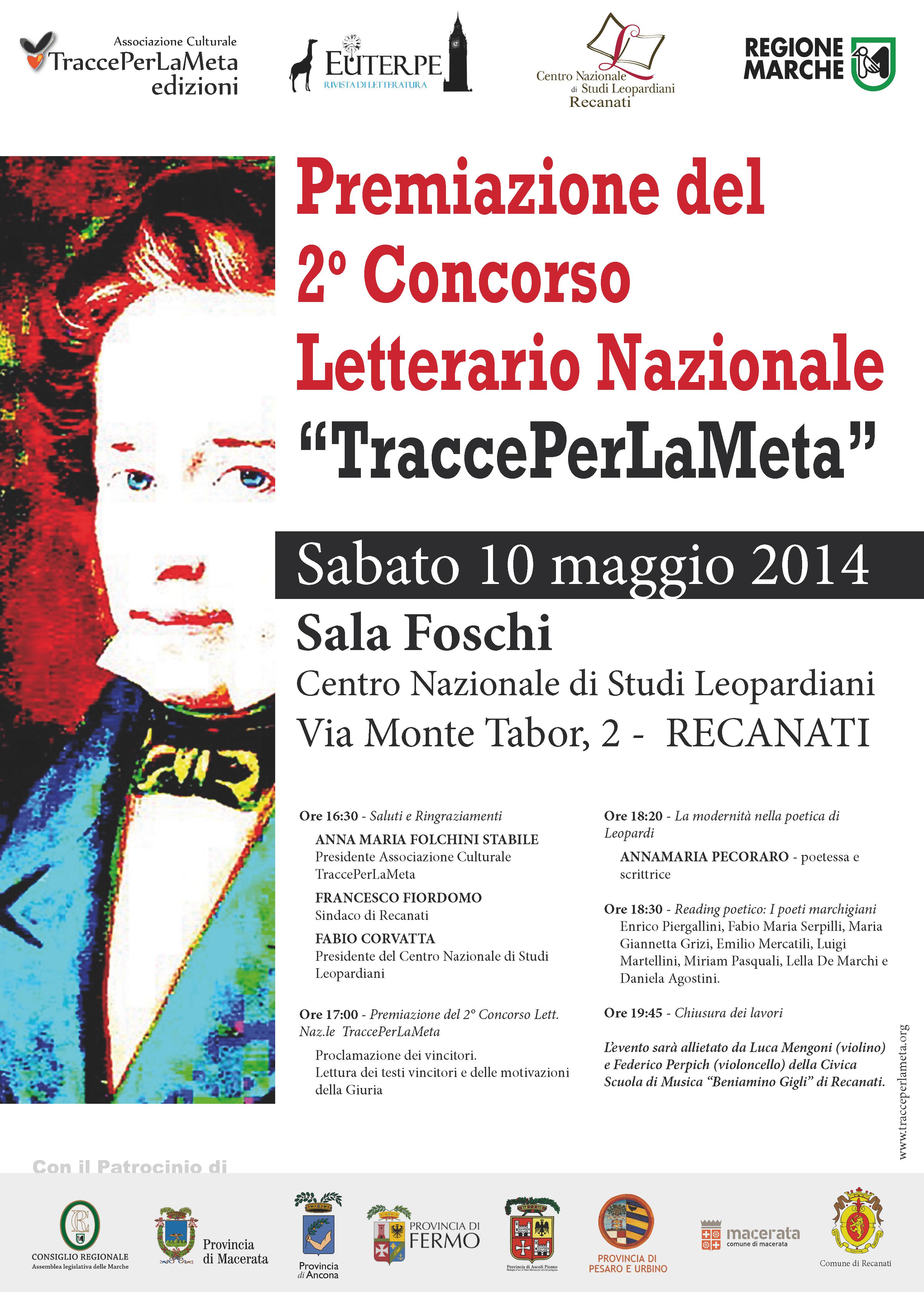Premiazione 10.5.2014 – 2° Concorso Letterario Nazionale TraccePerLaMeta