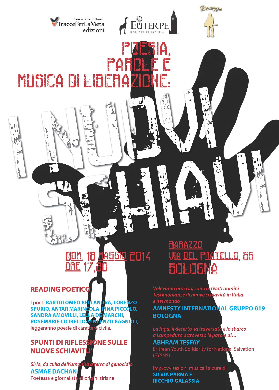 18.5.2014 – Poesia, Parole e Musica di liberazione: I nuovi schiavi