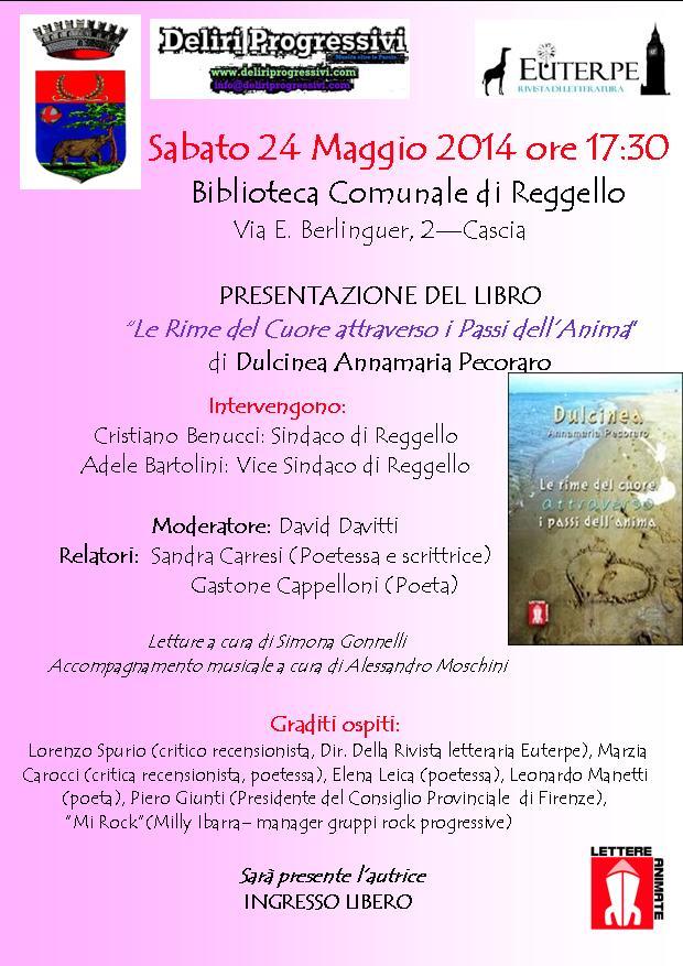 """24.5.2014 – """"Le Rime del Cuore attraverso i Passi dell'Anima"""" di Dulcinea Annamaria Pecoraro"""