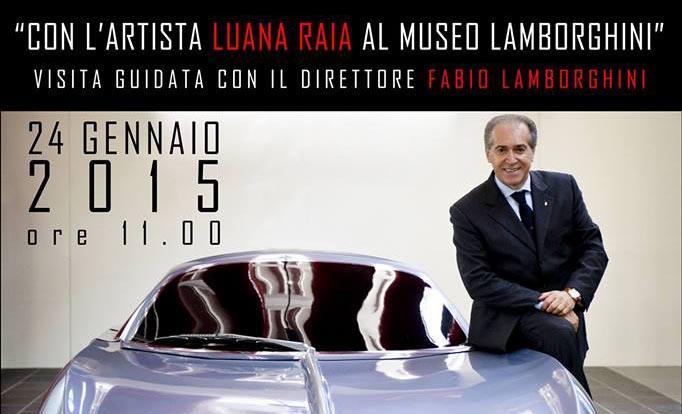 24.1.2015 – Con l'artista Luana Raia al Museo Ferruccio Lamborghini