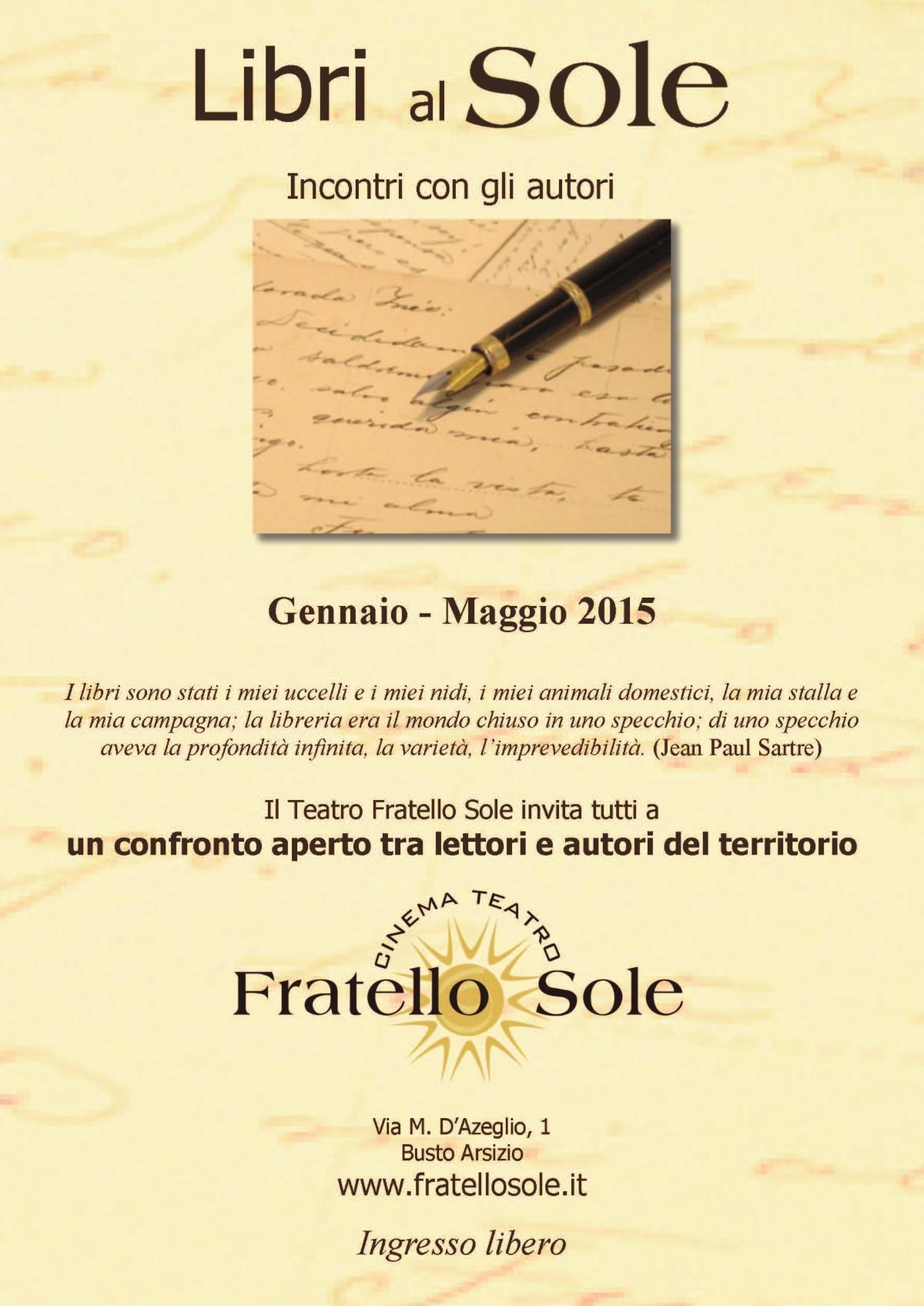 Gennaio-Maggio 2015 – Libri al Sole – Incontri con gli autori