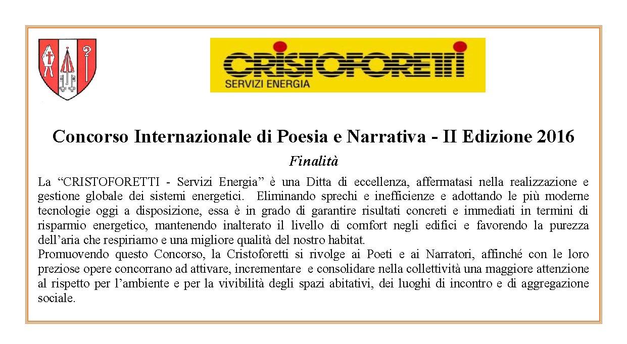 Scadenza 30.4.2016 – Concorso Internazionale di Poesia e Narrativa – II Edizione 2016