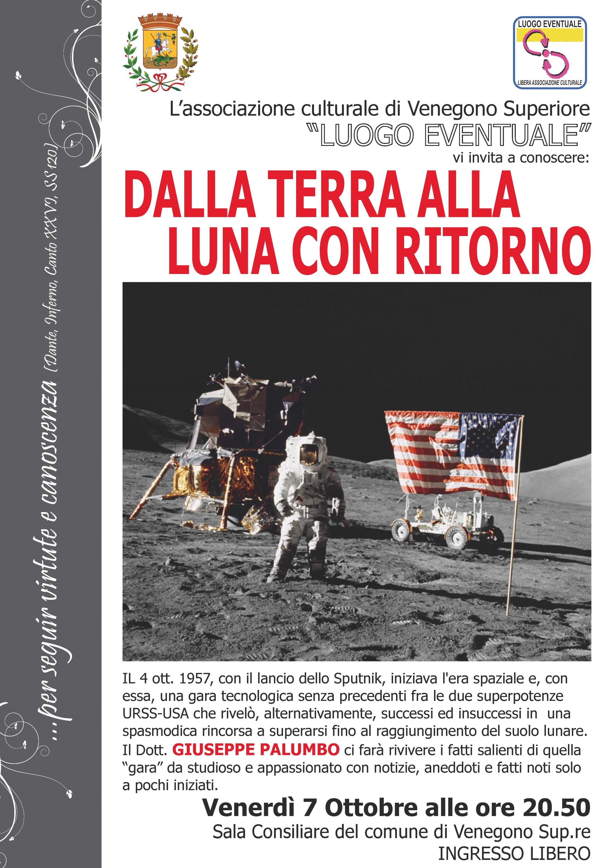 """7 ottobre 2016 – Presentazione libro """"Dalla Terra alla Luna con ritorno"""" di Giuseppe Palumbo"""