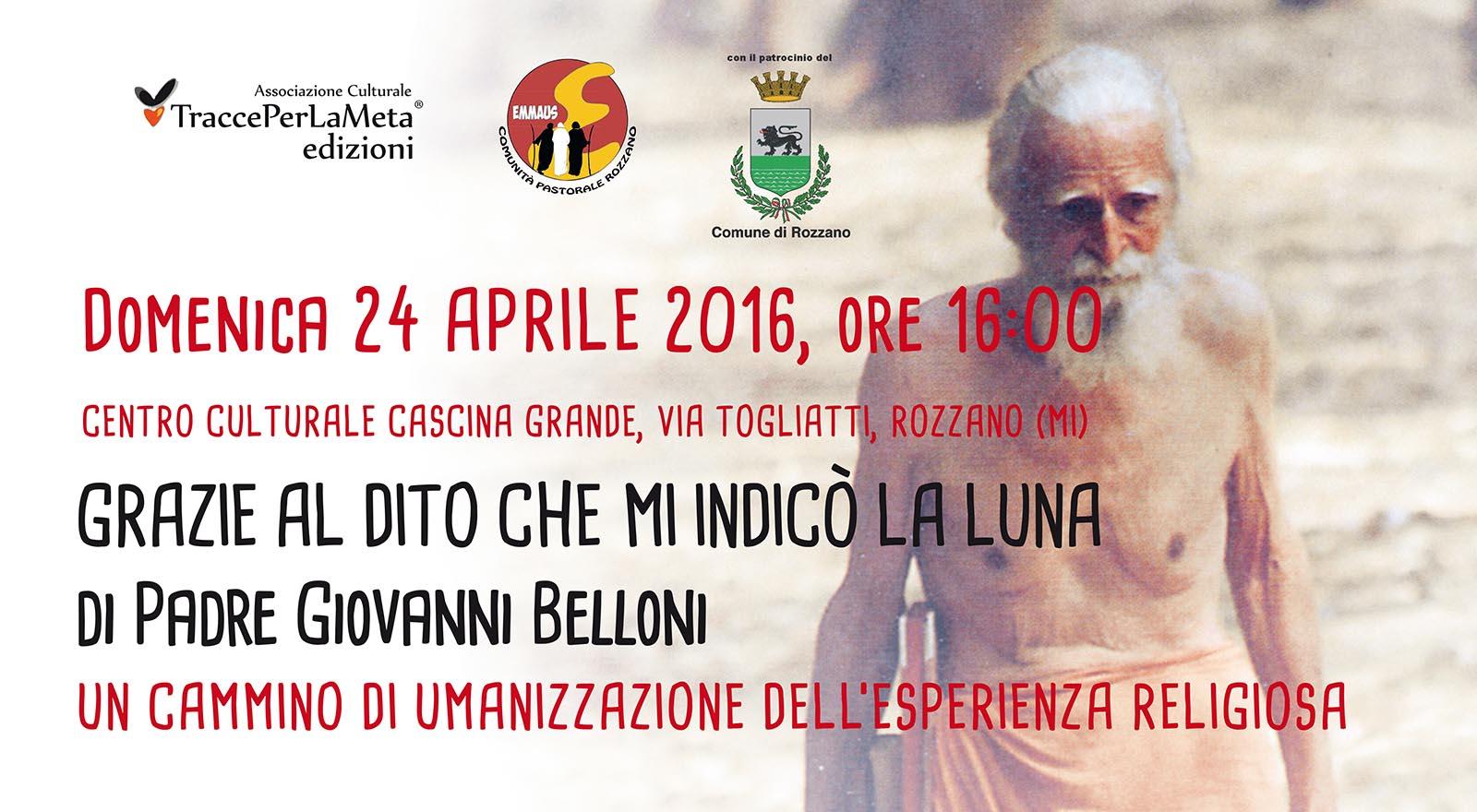 24.4.2016 – Presentazione libro di padre Giovanni Belloni – Un Cammino di umanizzazione dell'esperienza religiosa