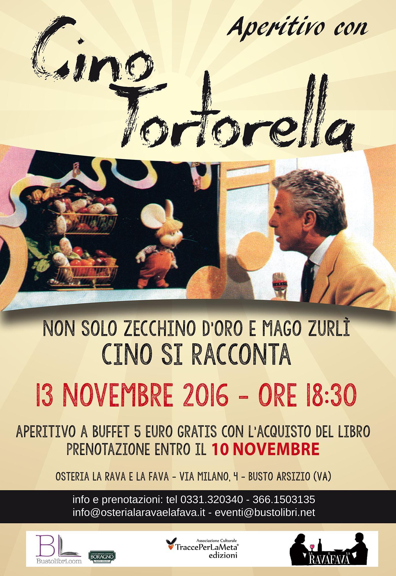 """13.11.2016 – Aperitivo con Cino Tortorella, Mago Zurlì e conduttore de """"Lo Zecchino d'Oro"""""""