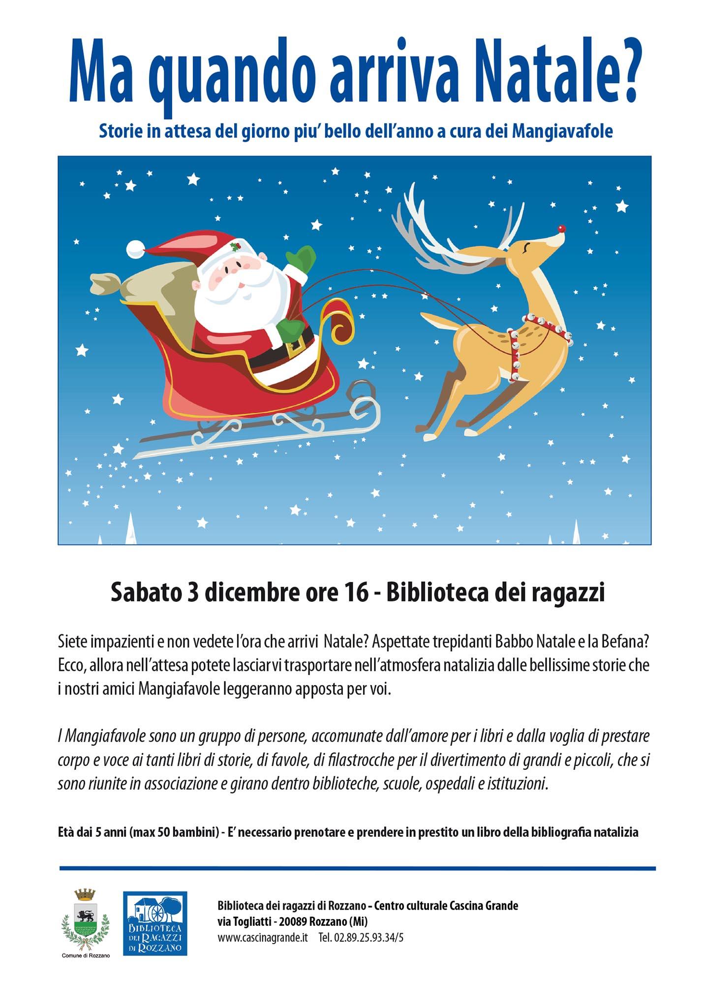 3.12.2016 I Mangiafavole presentano: Ma quando arriva Natale?